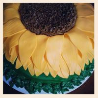 Sunflower  I did this cake for a friends sister-in-law for her bridal shower. Her favorite flower is a sunflower so they chose that for the theme of...