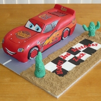My Latest Lightning Mcqueen Cake This is my latest Lightning McQueen cake, I hope you like it!