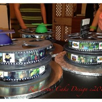 Movie Reel Graduation My friends all know they are my guinee pigs when it comes to trying to designs or techniques. This was no exception...This is the first...