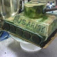 My First Cake! Army Tank This is the first 3-D cake that I ever made. The order was placed last minute (LITERALLY. The customer gave me a 3 hour window and showed...