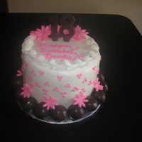 "Cakeball Cake 6"" round 2 layer cake with cakeball border :) YUM"