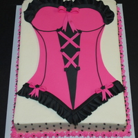 Lingerie Bachelorette Party Cake This cake was for a bachelorette party. Originally started as a carved, full torso cake, but since they didn't need 60-70 servings of...