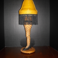 A Christmas Story Leg Lamp Made this just for fun for our family gathering. After photographing this, I realized how much the wood showed through the fringe so I...