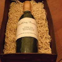 Wine Bottle In Crate I made this for my Mom's birthday. Unfortunately, the sides started getting soft when it got too warm and started looking wavy. She...