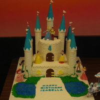 Disney Princess Castle This is a Disney Princess castle cake for our daughter's 4th birthday. The look of joy on her face when she first saw it was priceless...