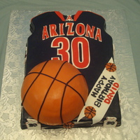 Arizona Wildcats Jersey Arizona Wildcats Basketball Jersey Cake made for a 30th Birthday. Thanks for looking.