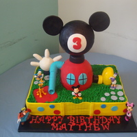 Mickey Mouse Clubhouse Mickey Mouse Clubhouse cake for our son's 3rd birthday. He absolutely loved it! Confetti cake with lemon buttercream. Cake design...