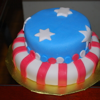 4Th Of July Picnic Cake Made a little cake for a picnic with friends. They were like vultures.