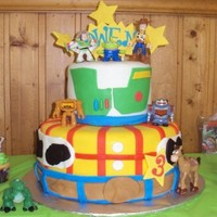 Toys Story Made this cake for my best friends son. figures are plastic