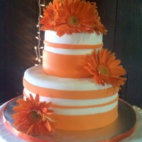Kaitlin Fondant covered cake, fresh flowers