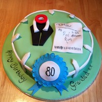 Horse Racing 80Th Cake