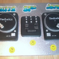 21St Dj Cake this is a set of decks i made for my brothers birthday - it was the first time i had ever attempted something this big! let me know what...