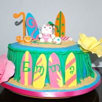 Children's Birthday Cakes Hello Kitty luau birthday cake