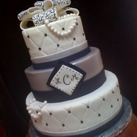 Black, White, And Silver Cake