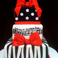 Zebra And Music Hand painted happy birthday song :)