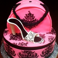 Hat Box And Purse Cake