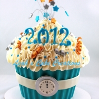 Happy New Year 2012 Giant Cupcake new years addition!