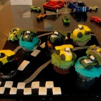 Race Car Cupcakes Race car cupcakes for my son's birthday