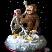 Robot Vs. Giant Monkey Cake