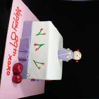Japanese Doll Square Cake