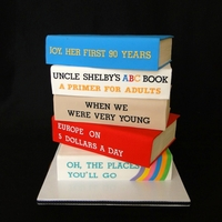 "90Th Birthday Cake ""books Of Life""   90th Birthday Cake ""Books of life"""