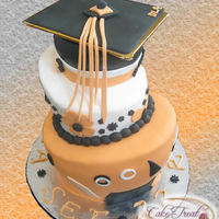 Topsy Turvy Graduation Cake Made Up Of Pound And Chocolate Cakes Topsy Turvy Graduation Cake.. Made up of Pound and Chocolate Cakes