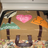 Steamer Trunk This is a Red Velvet cake with tinted creme cheese icing. The straps and handle of the suit case are modeling chocolate. All suit case &...