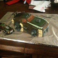 Transformer Cake  I made this cake for my son's 11th birthday this year. This Transformer is obviously un-transformed, but looks pretty cool anyway. I&#...