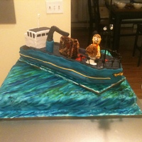 Deadliest Catch Groom's Cake  I made this cake for a friend's, sister's wedding. It took me about 30 hours for everything and weighed about 55 pounds. I made...