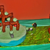 Angry Birds I made this Angry Birds cake for my son's10th birthday. I actually made my own MMF for the first time. Came out pretty well, I think....