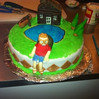 Camping Birthday Cake Made for a co-worker. Just thrown together.