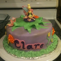 Tinkerbell Cake Tinkerbell cake for a 4 year old. Homemade MMF.