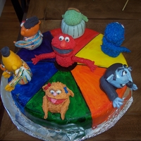 Sesame Street Cake Made for a 2nd birthday. All figures are made of homemade MMF