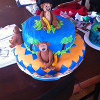 1St Birthday Monkey Cake  I made this for my friend's son's 1st Birthday. It was a last minute deal because the bakery messed up her order. I only had just...