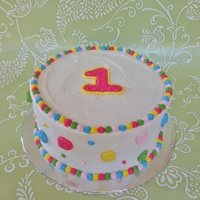 Fun Happy Birthday   Vanilla Cake, Vanilla Buttercream and Decorations
