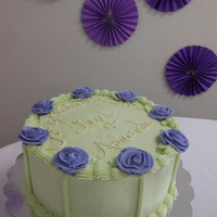 Spring Wedding   Marble Cake and Vanilla Buttercream Frosting and Decorations
