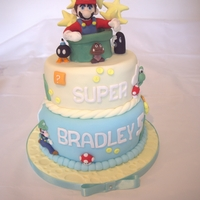 Super Mario Cake I made this for my grandson's 5th birthday, the characters took a while but were worth it, he was so pleased!
