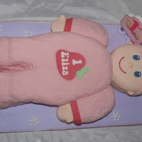 Rag Doll First Birthday Cake Cake copy of the baby's favourite toy, when she saw it she leaned over and kissed it!