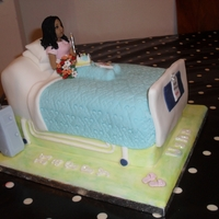 Birthday In Hospital Made this for a lady celebrating her birthday whilst in hospital. The sugarpaste model is a likeness of the lady, and on the bed is a...