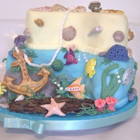 Beach And Ocean Cake I made this 40th birthday cake for a lady who loves anything to do with ships. Her daughter requested a ship or anchor to be the theme and...