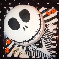 Jack The Pumpkin King My daughter loves the Nightmare Before Christmas film and asked for a Jack Skellington cake for her 20th birthday. Was quite fiddly gettin...