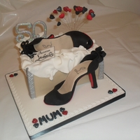 Louboutin Shoe Cake I modelled these from sugar paste without using a mould or cutters, as this was the first time I made a shoe I was quite happy with the...