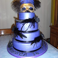 Purple Masquerade Cake
