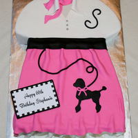 Poodle Skirt Cake Poodle skirt cake for a 1950s themed party. Inspired by many of the cakes on CC.