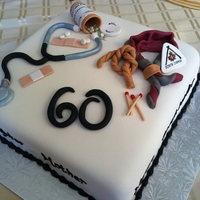 Birthday Nurse & Scout Leader fondant and gumpaste accents