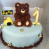 Beeing 1 Is Fun bear is modeled with RKT other accents are fondant