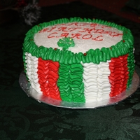 Ruffles In Christmas Colors All buttercream frosting in a ruffle effect. I used tip 104.