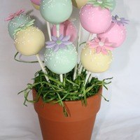 Cake Pop Pastel Bouquet Cake Pop Pastel Bouquet with Fondant Flowers