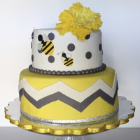 Mommy- To- Bee... Baby Shower Cake! My fist shot at chevron... Wow! Was that more difficult than I had anticipated!! Turned out ok, but not perfect by any means! Thanks for...