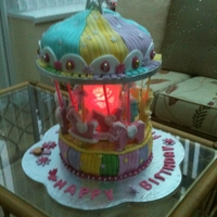 Carousel two tier carousel cake